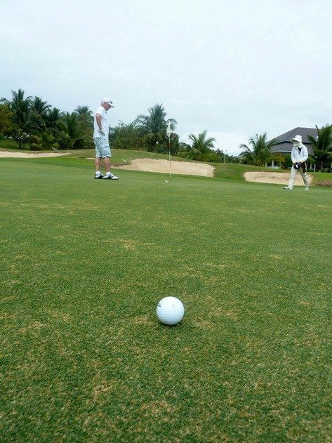 Golf Ball and Bunkers