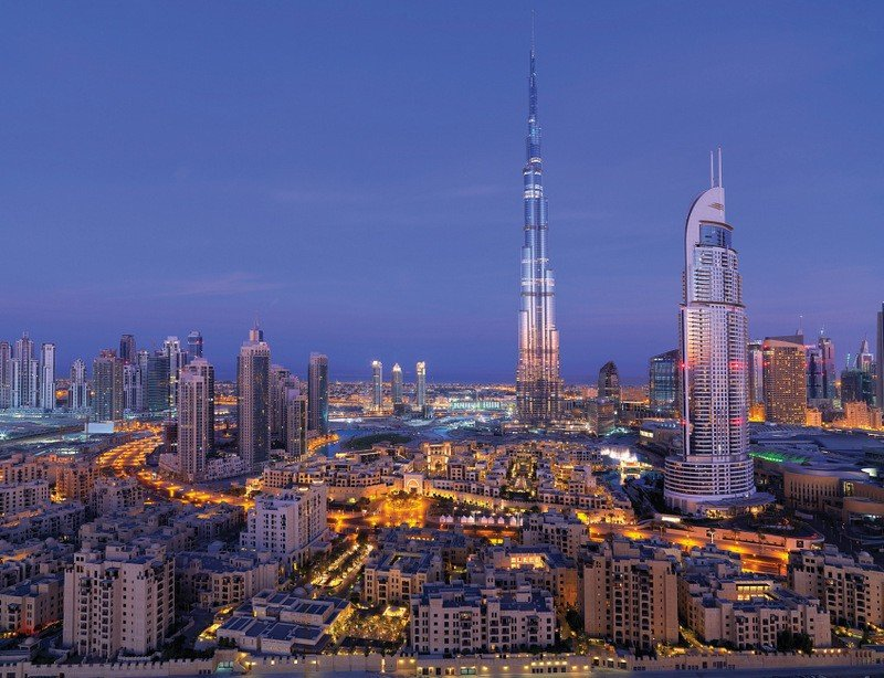 Downtown Dubai Dusk