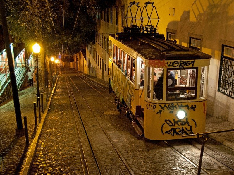 lisbon-funicular-night