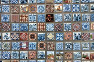 Blue and white tiles porto