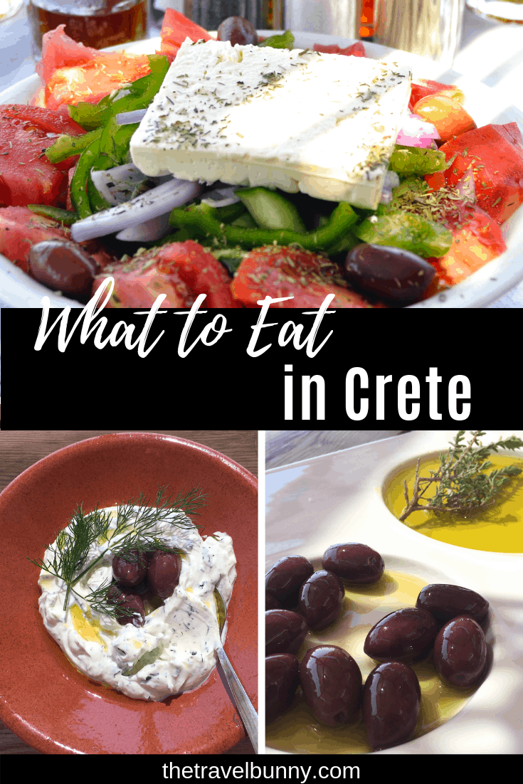 Food guide to Crete. Food in Crete full of intense Mediterranean flavours. Uncomplicated and delicious it\'s made from fresh, healthy ingredients. Here\'s my guide to food in Crete #crete #greece #food