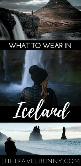Woman in Iceland by waterfall