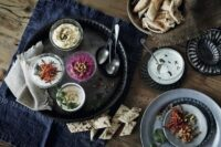 Table of Mezze dishes