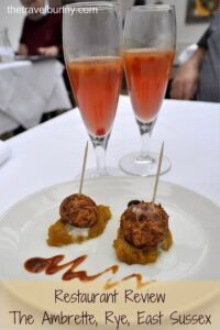 Restaurant Review - The Ambrette, Rye, East Sussex contemporary Anglo-Indian Fusion Food