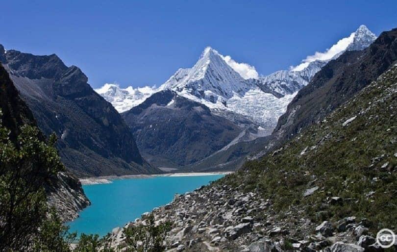 Lake in Cordilera Blanca, Peru