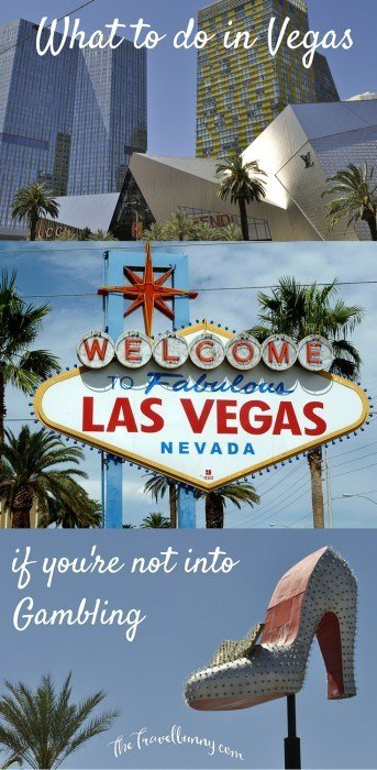 Las Vegas sign and silver slipper neon shoe
