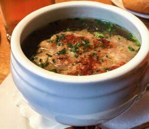 Cheese Dumpling Soup- Käsenodelsuppe