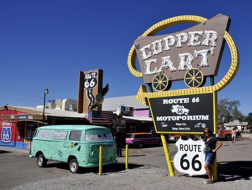 Copper Cart Sign, Seligman