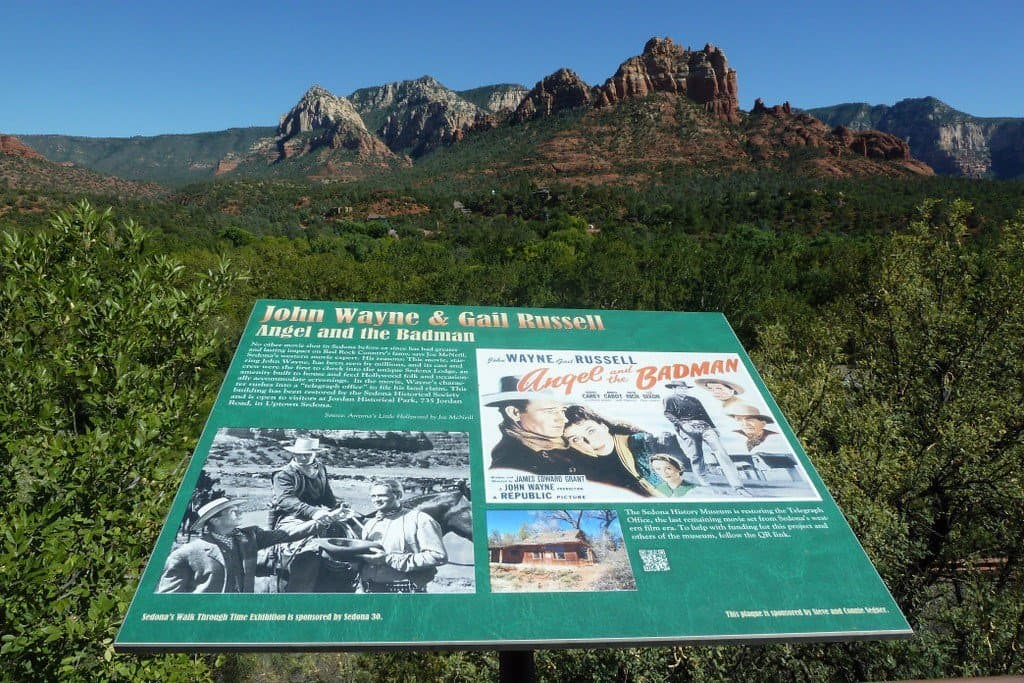 Plaque of John Wayne Movie in Sedona