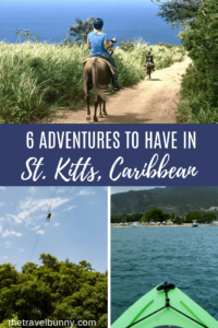St Kitts activities montages. Horseriding, kayaking, zip line,