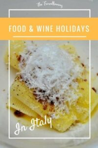 Food and wine holidays Italy