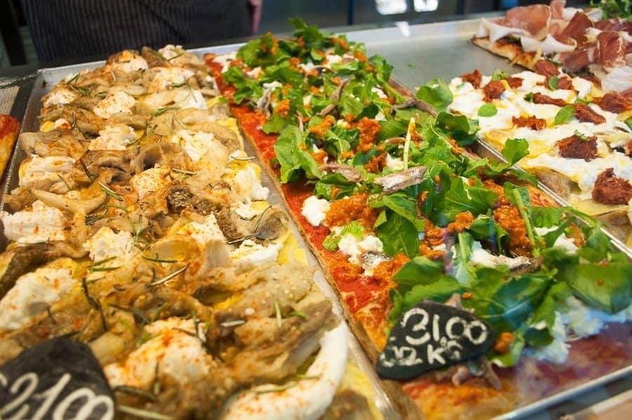 Pizza at Bonci Rome