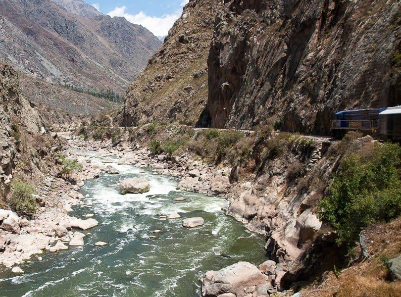 train journey to Machu Picchu