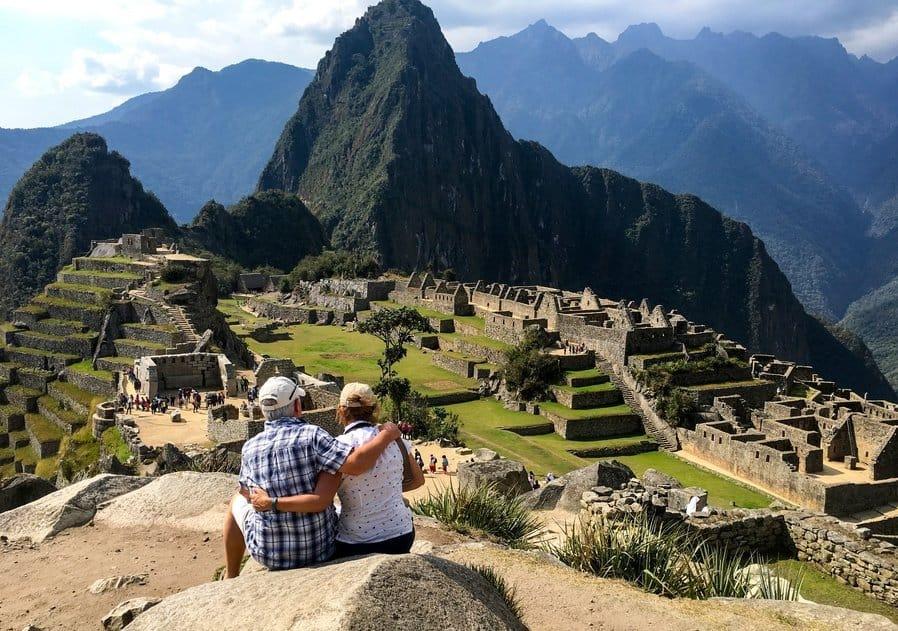 couple at Machu Picchu