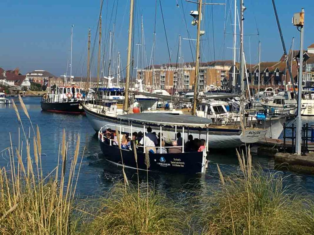 Sovereign Harbour, Eastbourne, boats and sightseeing boat
