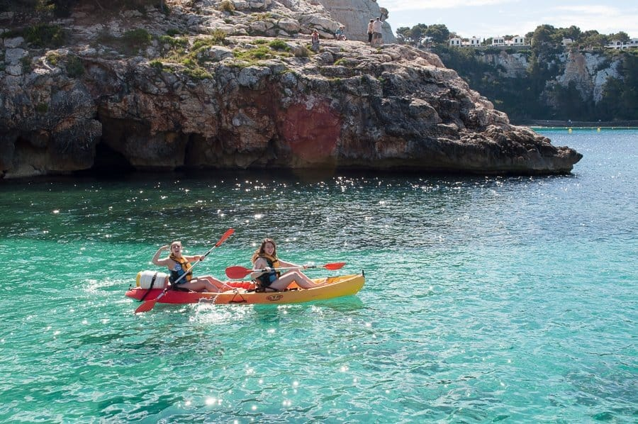 kayaking Menorca