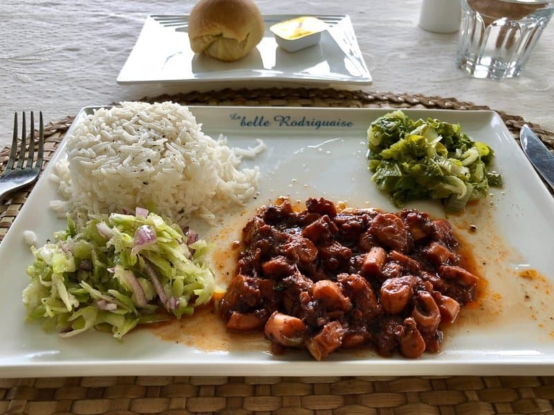 Food on Rodrigues Island, Mauritius