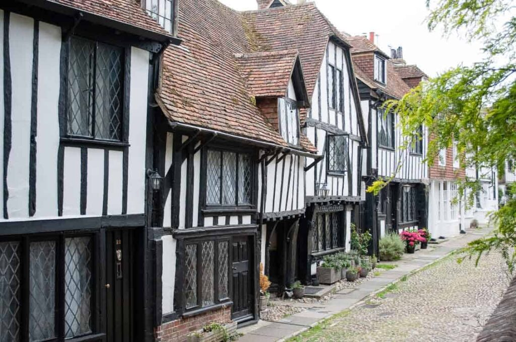 Rye, East Sussex, half-timbered buildings