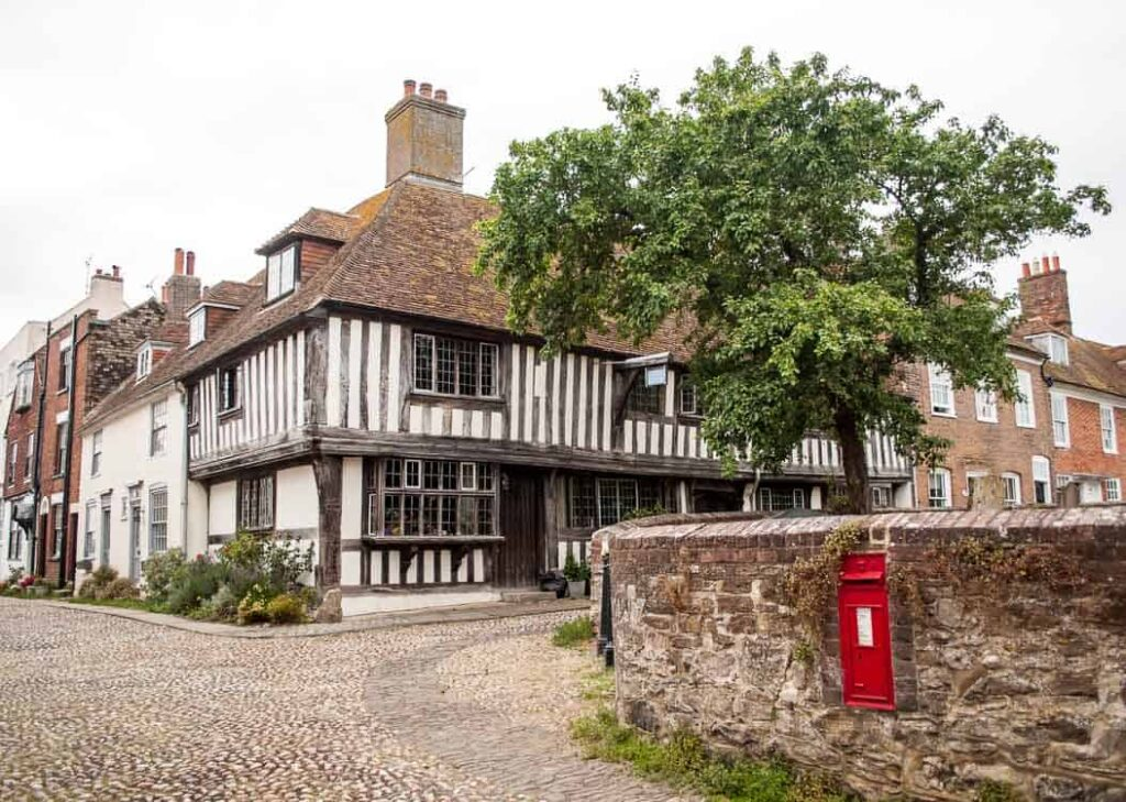 Rye, East Sussex - half-timbered buildings