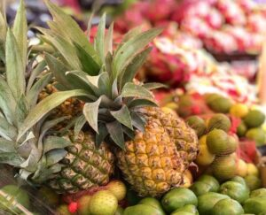 Pineapples Rodrigues Market