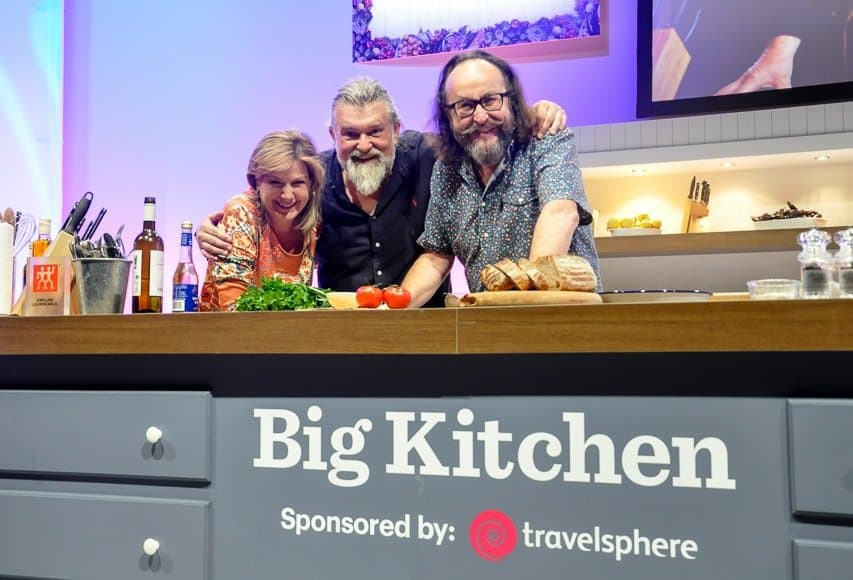 Penny Smith and Hairy Bikers