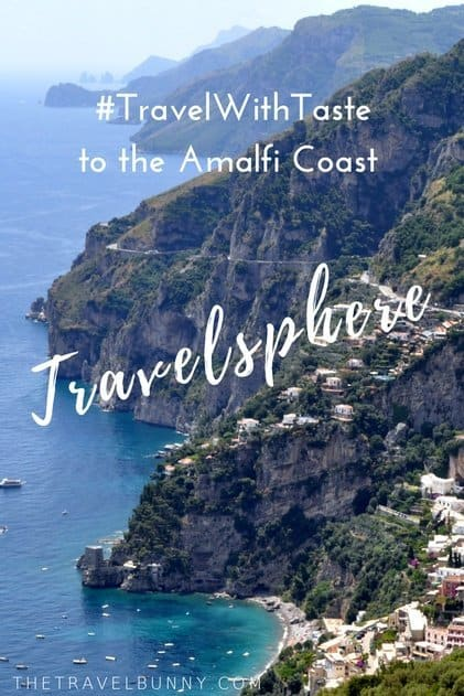 Amalfi Coast view with cliffs and ocean