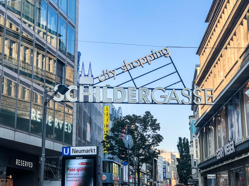 Schildergasse Shopping Street Cologne