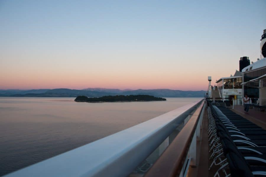Sunset on a cruise
