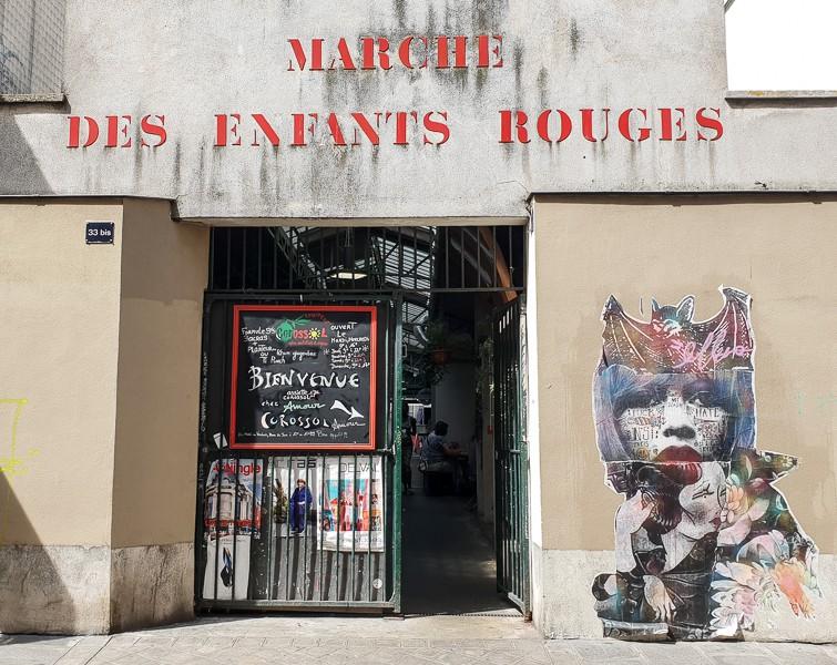 Marche des Enfants Rouge doorway