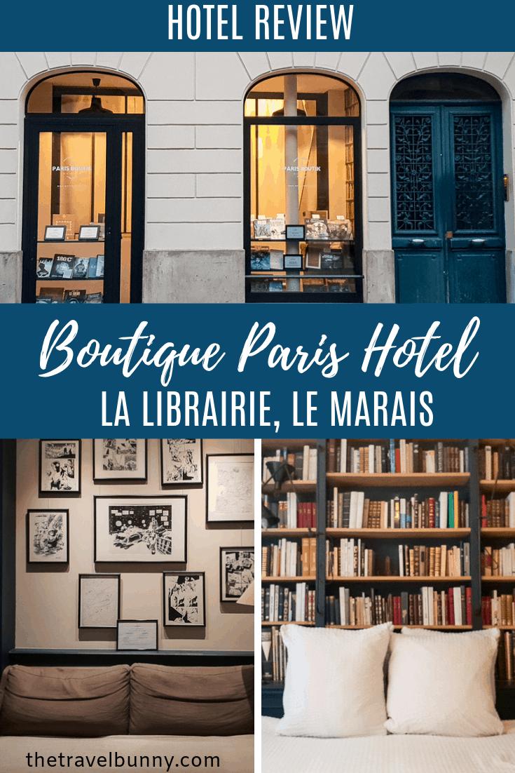 Review: A stay in Paris Boutik La Librairie in Le Marais district, Paris. A unique boutique suite set in an old book shop makes a perfect literary Paris break. #hotel #review #paris