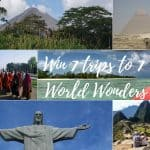 Win Seven Trips to Seven World Wonders