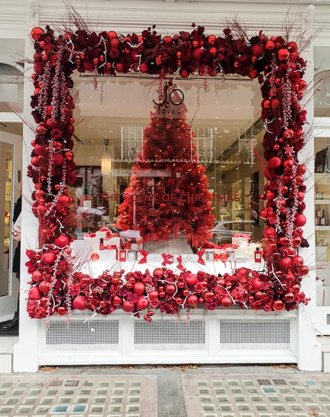 London Shop decorated for Christmas