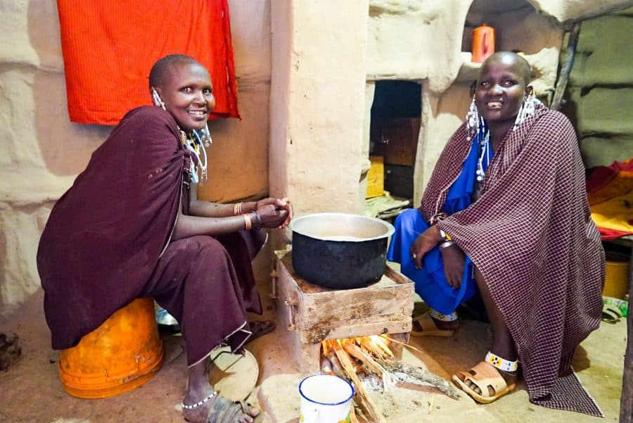 Masai Women with Clean Cook Stove