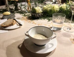 trout and caviar soup