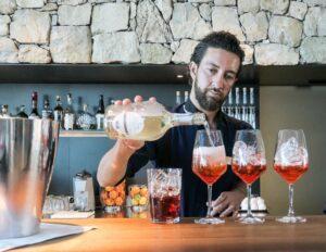 Barman pouring Spritz