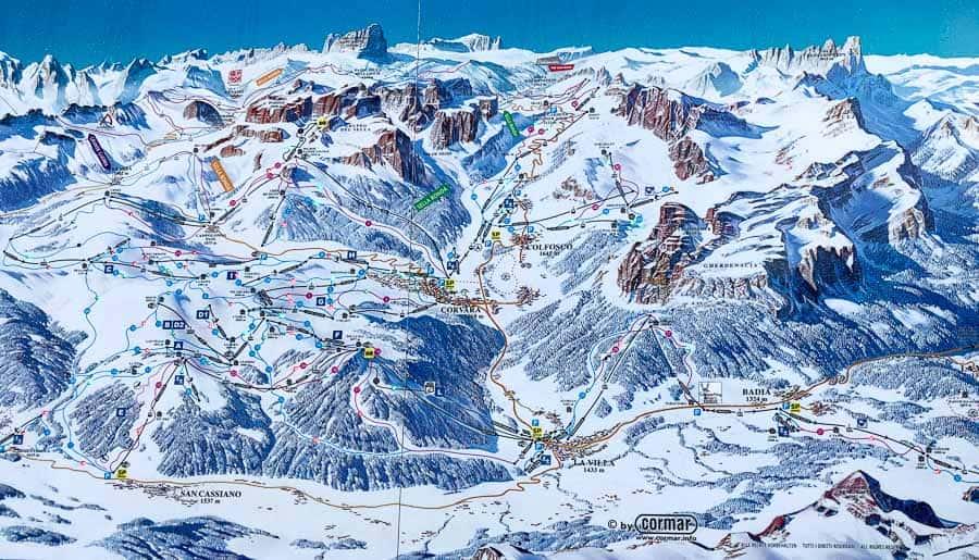 Alta Badia Map