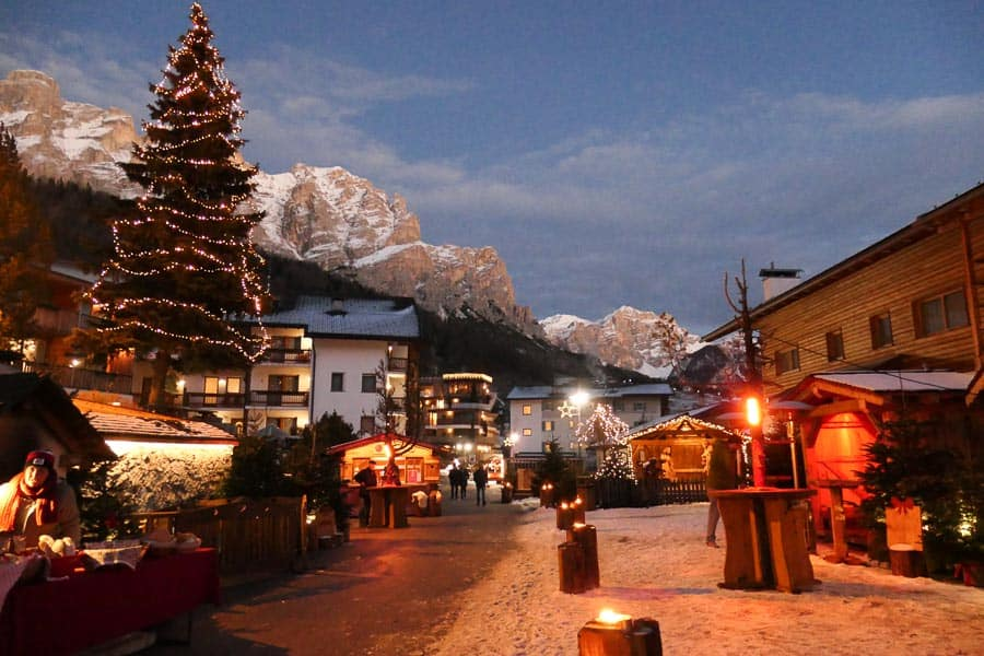 San Cassiano in Alta Badia at dusk