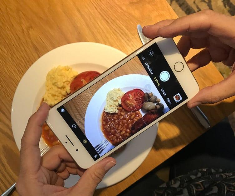 Full English on mobile phone