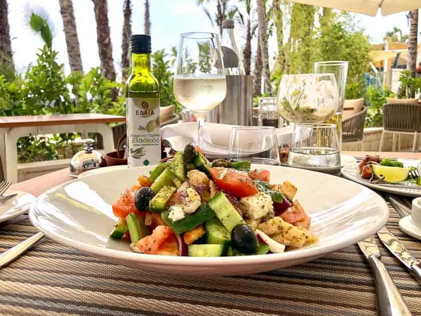 Greek salad, Cyprus