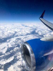 View of Austria from Plane window