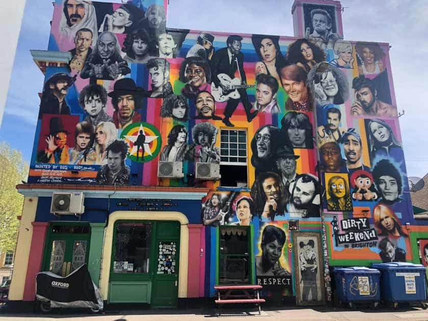 Dead Rock Stars Street Art Mural, Brighton