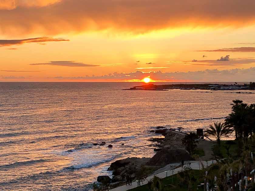 Sunset, Paphos, Cyprus