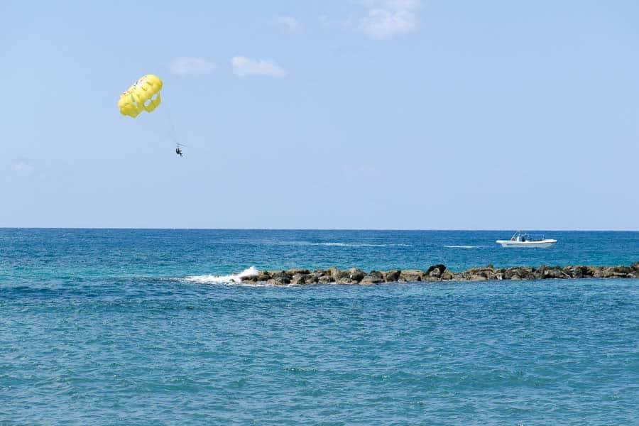 Parascending Paphos, Cyprus