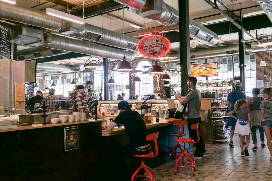 inside Central Market Denver