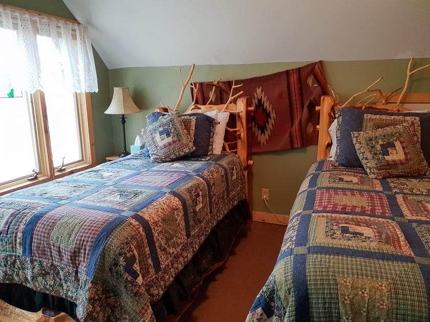 Twin Bedroom on dude ranch