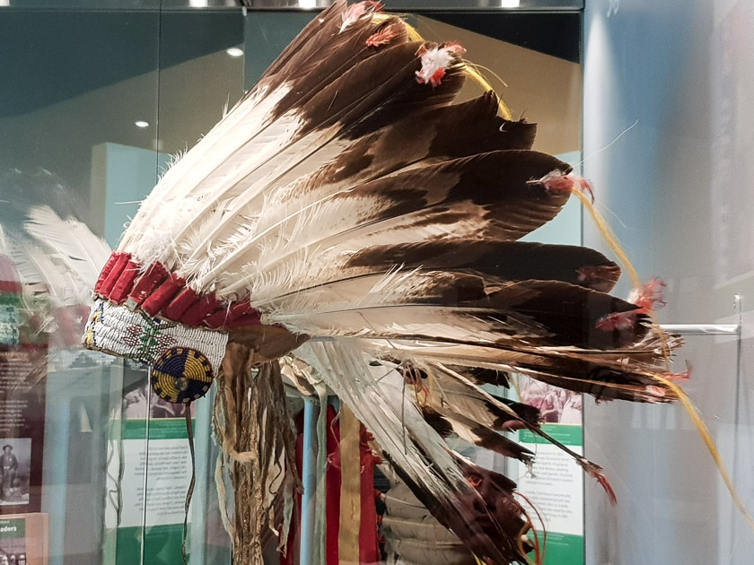 Ute Feather Head dress at History Colorado Center