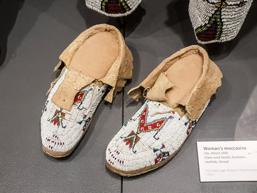 Ute beaded Moccasins at History Colorado Center