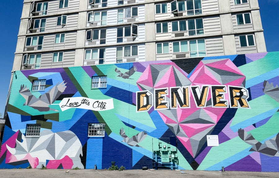 Love Denver Mural by Pat Milbery