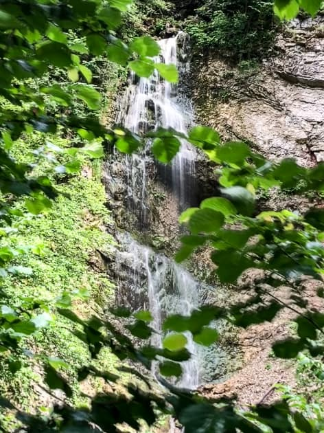 Waterfall in Tiefenbach Gorge