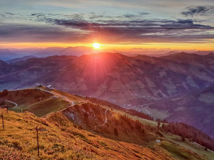 sunrise at Wiedersbergerhorn